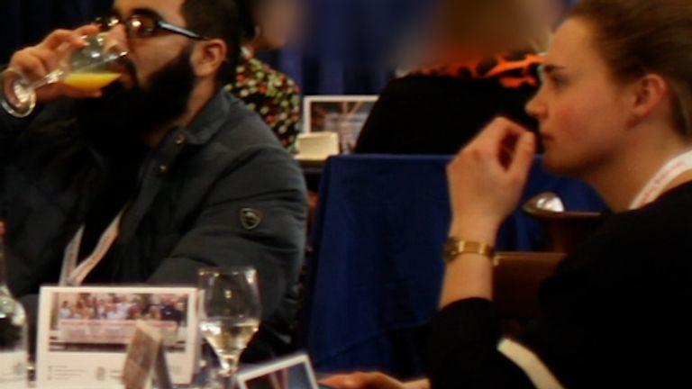 Saskia Jones sat beside Usman Khan at the prisoner rehabilitation event