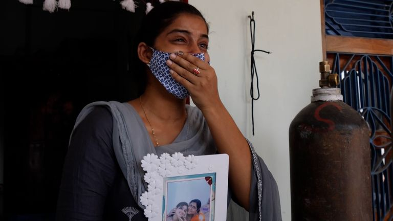 Sarita Singh's daughter is distraught after her mother died from COVID-19 after working on elections in Uttar Pradesh