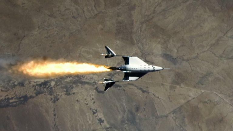 Virgin Galactic's ship could carry commercial passengers if it is granted a license