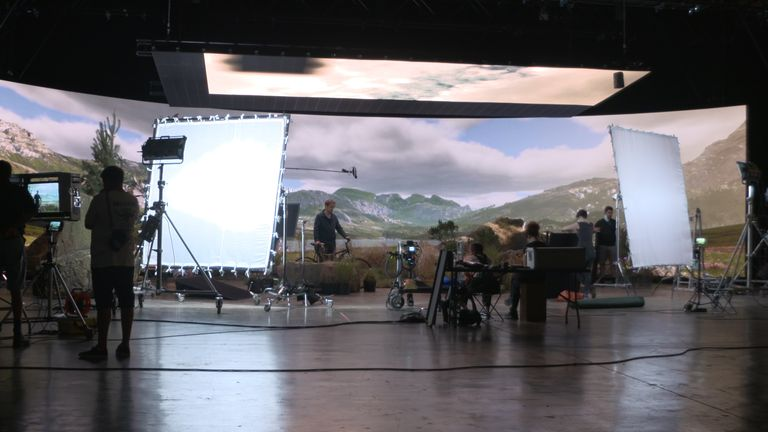 Virtual production studio