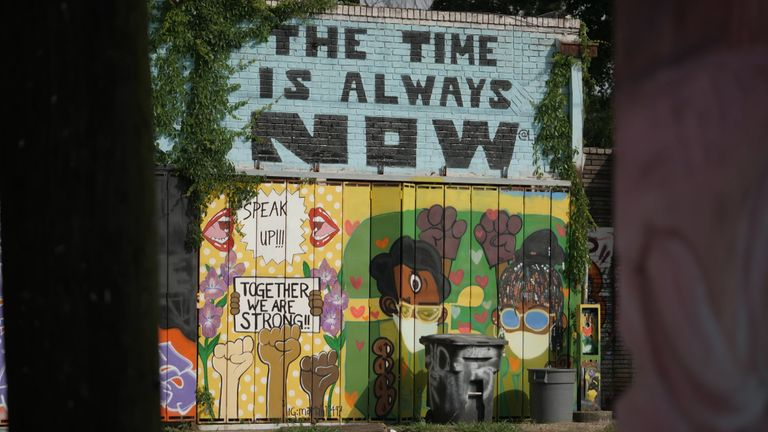 نقاشی دیواری BLM دیگر در تگزاس