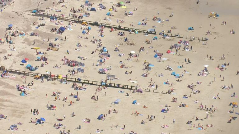 People have been making use of the sunny bank holiday weather in Windsor and on Brighton beach.