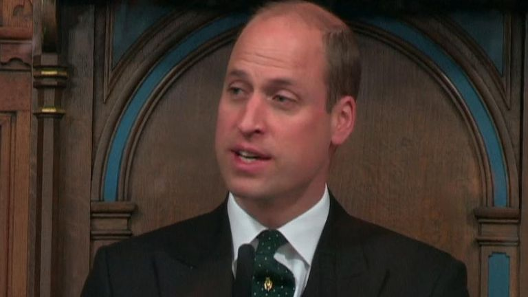 The Duke of Cambridge is in Scotland to attend a church ceremony.
