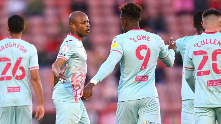 Andre Ayew put Swansea ahead in the first half