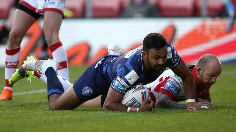 Highlights of the Betfred Super League clash between Leigh Centurions and Wigan Warriors