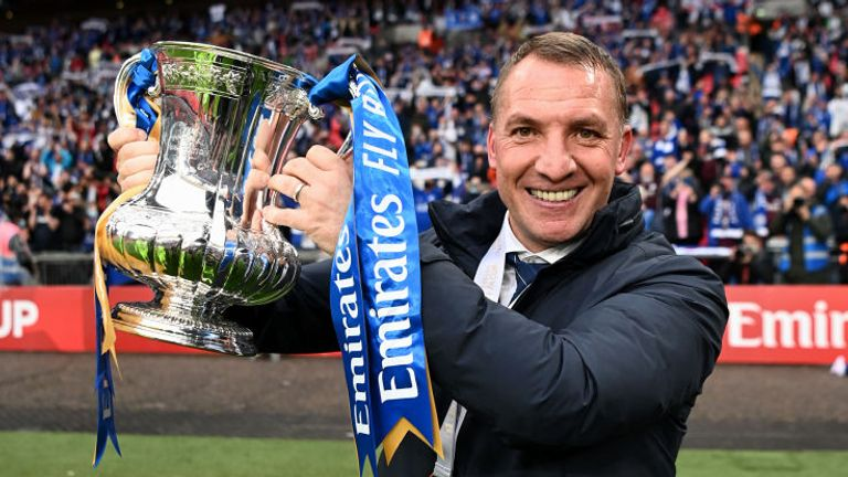 Brendan Rodgers guided Leicester to their first FA Cup success
