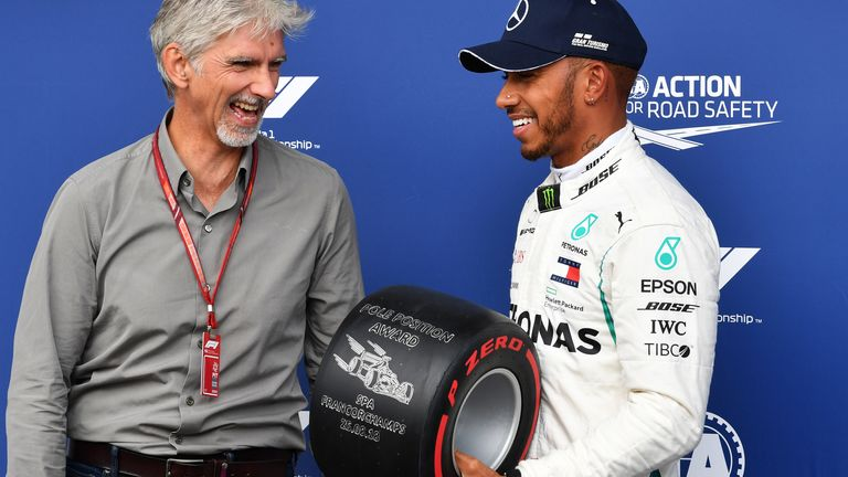 Lewis Hamilton says it was an 'amazing moment' to receive praise from Damon Hill at the Spanish GP and has explained his aim for perfection against Max Verstappen