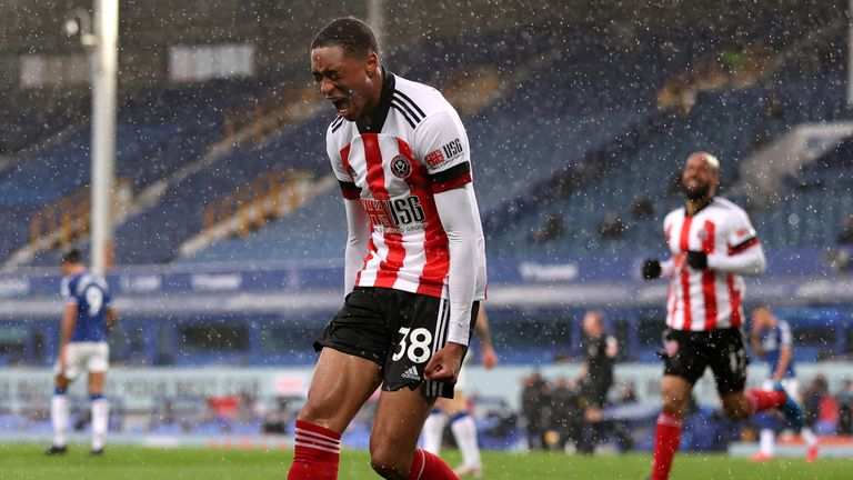 Daniel Jebbison scored the winner for Sheffield United on his first Premier League start