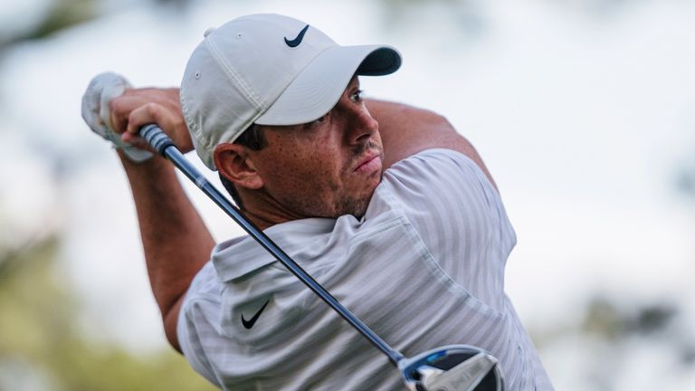 Rory McIlroy gets hot with the putter and fires a three-under 68 to stay in contention for a third victory at the Wells Fargo Championship.