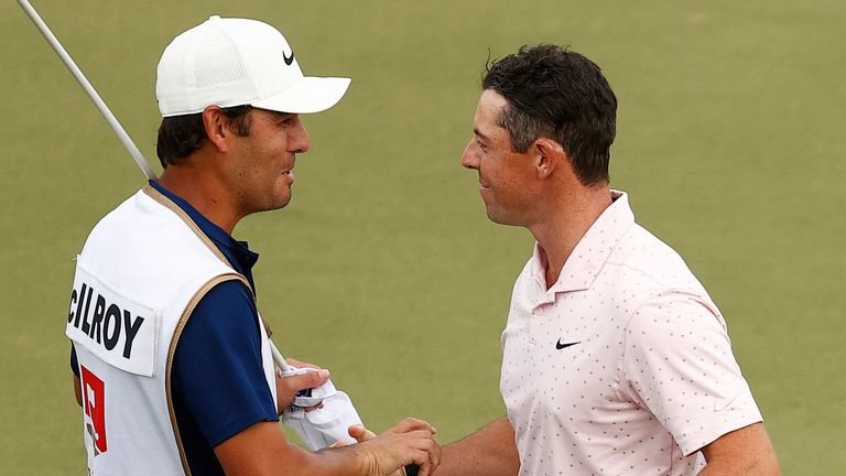 Rory McIlroy gave credit to Harry Diamond after their win at Quail Hollow