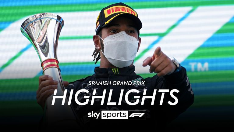 Watch the best bits from the Spanish GP at Barcelona as Lewis Hamilton and Max Verstappen went head-to-head for victory again
