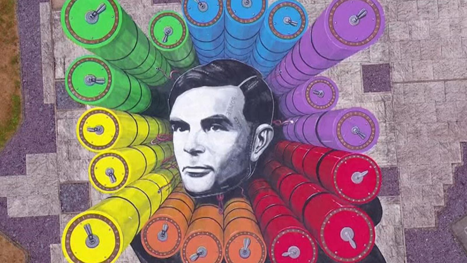 Alan Turing £50 banknote enters circulation - as LGBT-inspired artwork unveiled at GCHQ to honour wartime hero