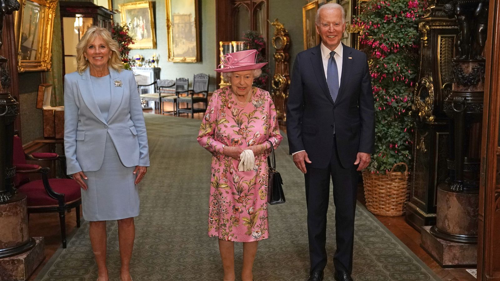 G7 summit: President Biden and First Lady enjoy tea with the Queen at Windsor Castle