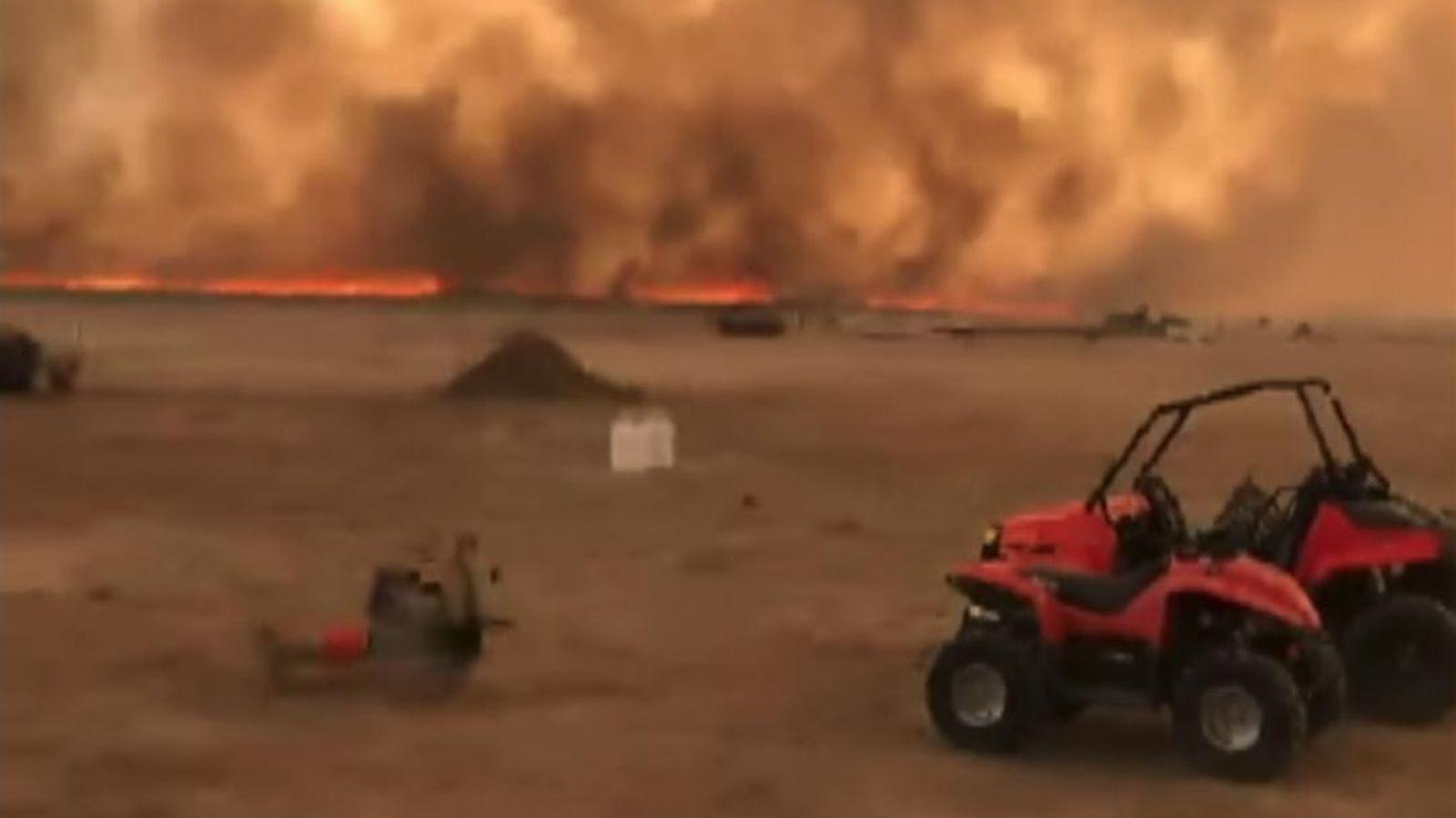 Wildfire Caused By Lightning Burns 10,000 Acres in Utah