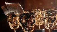British Academy of Film and Television Arts - BAFTA award masks are prepared at the Savoy Hotel, in central London, ahead of the BAFTA awards, which take place on Sunday February 12, 2012.