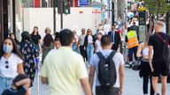 Shoppers on Oxford Street in central London, following the further easing of lockdown restrictions in England. Picture date: Tuesday June 8, 2021.