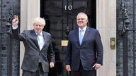 Boris Johnson and Australian PM Scott Morrison. Pic: Tim Hammond / No 10 Downing Street