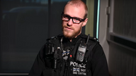 PS Dave Cayton says he felt an 'intense' burning pain at the time. Pic: Northamptonshire Police