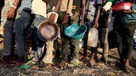 Ethiopian refugees at the Um-Rakoba camp on the border in Sudan. File pic
