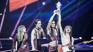 Maneskin won the 2021 Eurovision Song Contest. Pic: EBU/Thomas Hanses