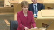 The change in levels was announced by Nicola Sturgeon