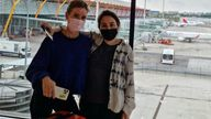 A new image shows Princess Latifa appearing to wear a face mask in Madrid-Barajas airport. Instagram/ @shinnybryn