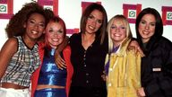 The Spice Girls at the Lloyds Bank British Fashion Awards in London in 1996