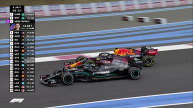 Verstappen overtakes Bottas for second