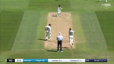 Conway caught behind off Broad