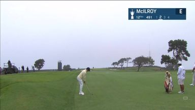 McIlroy inches from unlikely eagle