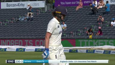 Sciver falls after LBW review