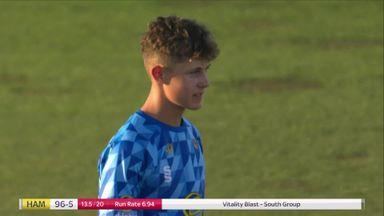 16-year-old leg-spinner Lenham stars