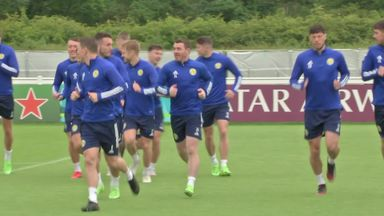 Scotland squad train without Gilmour