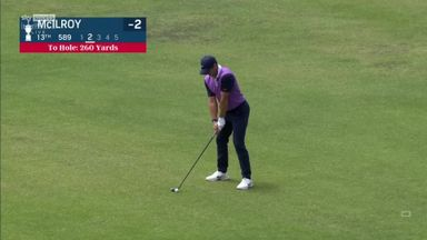 McIlroy hits the pin from 260 yards!