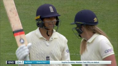 Fifty for Dunkley on Test debut!