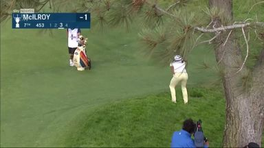 McIlroy's unlikely birdie from the rough