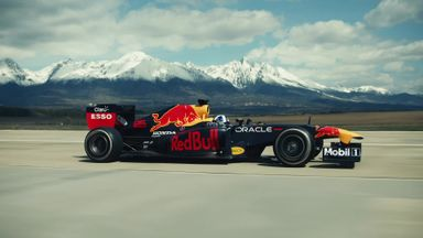 F1 car vs inverted plane! Red Bull's epic stunt