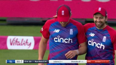 Shanaka caught by Willey