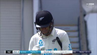 England get crucial wicket of Taylor