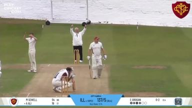 Batsman smashes own windscreen with six!