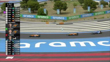 McLaren pair overtake Alonso
