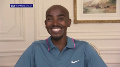 Farah pleased to be back on the track