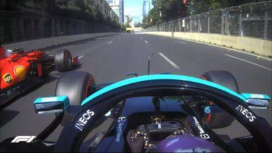 Hamilton flies past Leclerc for race lead
