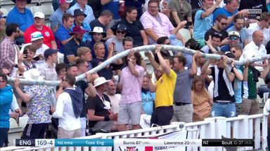 Longest beer snake ever at cricket?!