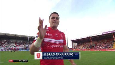 Takairangi scores then says 'Hi Mum!'