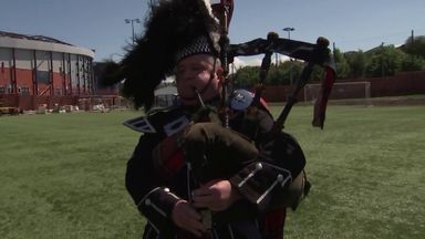 Pipers play Flower of Scotland!