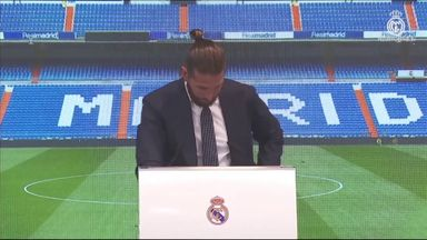 Ramos in tears during Madrid farewell