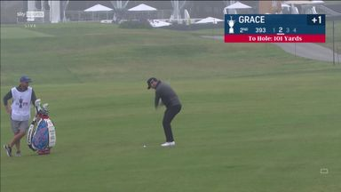 Amazing hole-out from Grace