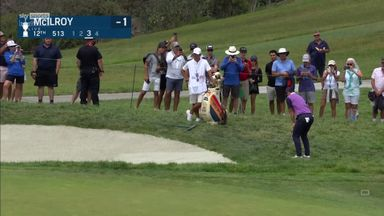 McIlroy's super chip-in from the rough