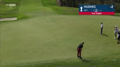 Hughes holes eagle from Tiger's spot!